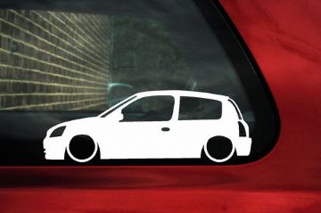2x LOW Renault Clio sport RS 182 mk2 outline stickers